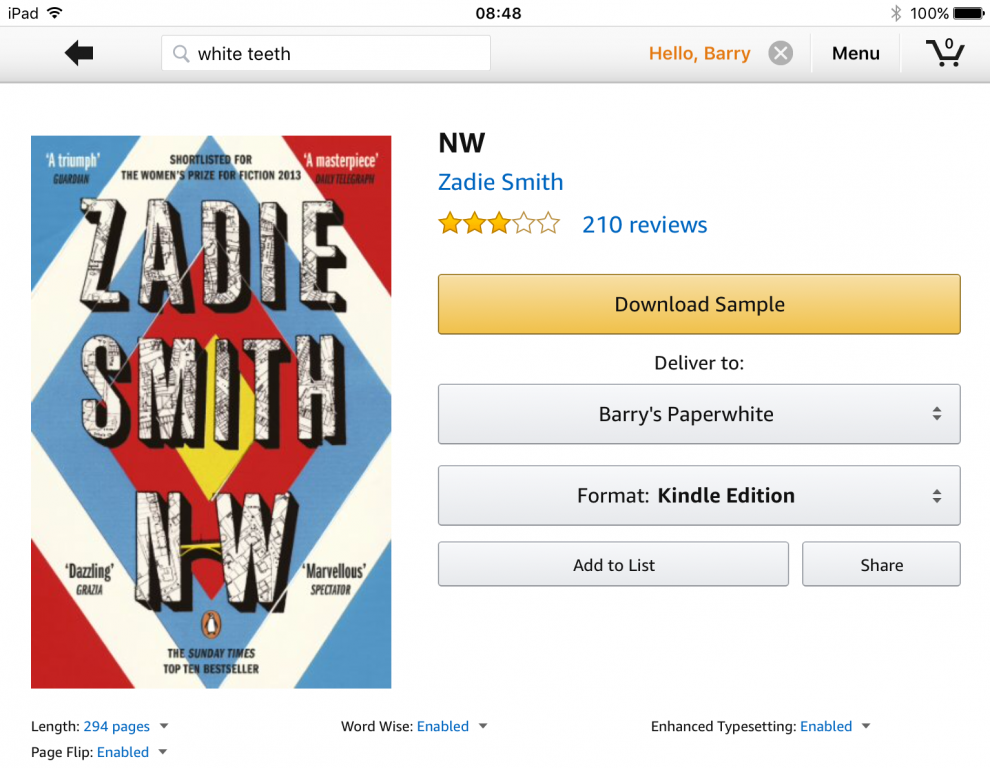 buying books for kindle app on ipad